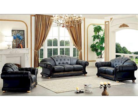 black living room set  classic style versace esfveset