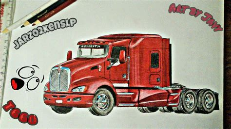 DIBUJANDO KENWORTH T660 YouTube