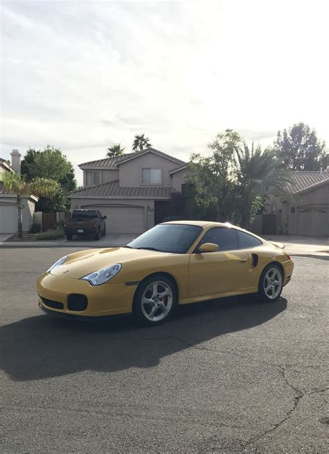 Manual or automatic transmission available. 2003 Porsche 996 Turbo - X50 Speed Yellow 6spd 22k miles - Rennlist - Porsche Discussion Forums