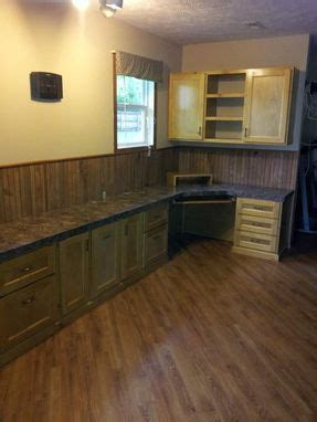 hand crafted built  double desk  wall cabinets