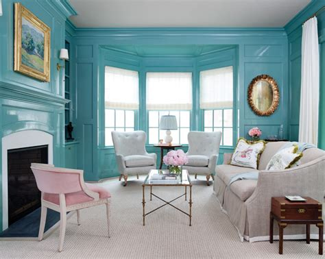 Benjamin Moore's Mill Springs Blue Walls-interiors By Color