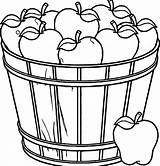 Apple Coloring Basket Pages Fruit Clipart Bowl Drawing Empty Apples Printable Tree Template Getdrawings Fall Picnic Getcolorings Sheets Rocks Papaya sketch template