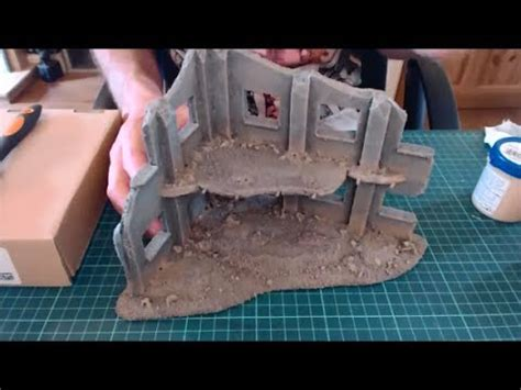 easily paint foamboard buildings ruins youtube