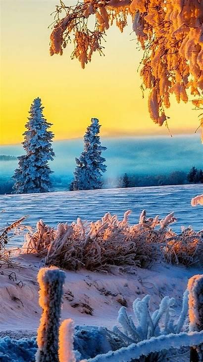 4k Ultra Nature Winter Iphone Wallpapers Sunrise