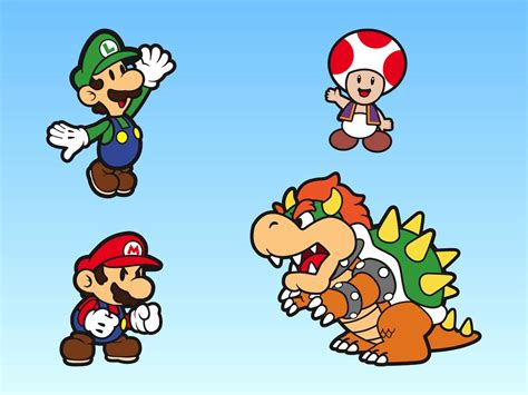 super mario bros characters vector art graphics