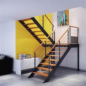Garde Corps Escalier Interieur : escalier bois m tal boreal les mat riaux ~ Dailycaller-alerts.com Idées de Décoration