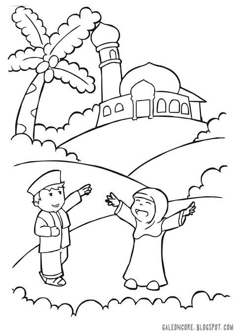 Rasulullah nabi muhammad adalah tokoh utama di agama islam. Gambar Mewarnai Anak Tk Islam - Download Kumpulan Gambar