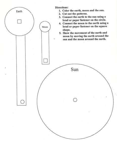 sun moon earth model worksheet page 3 pics about space