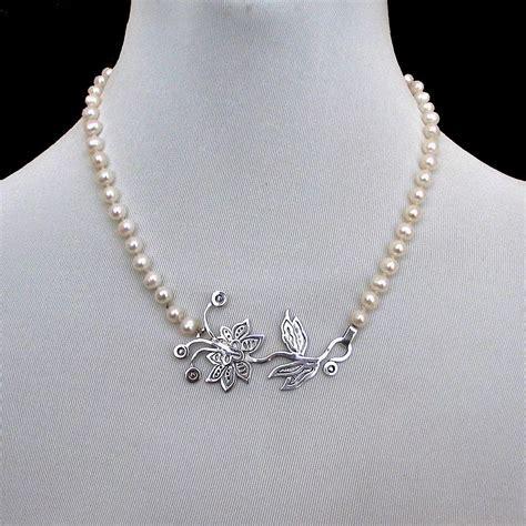 Romantic Contemporary jewelry. Designer necklace of pearls ...