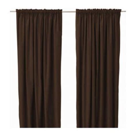 ikea sanela curtains drapes 2 panels brown velvet 118