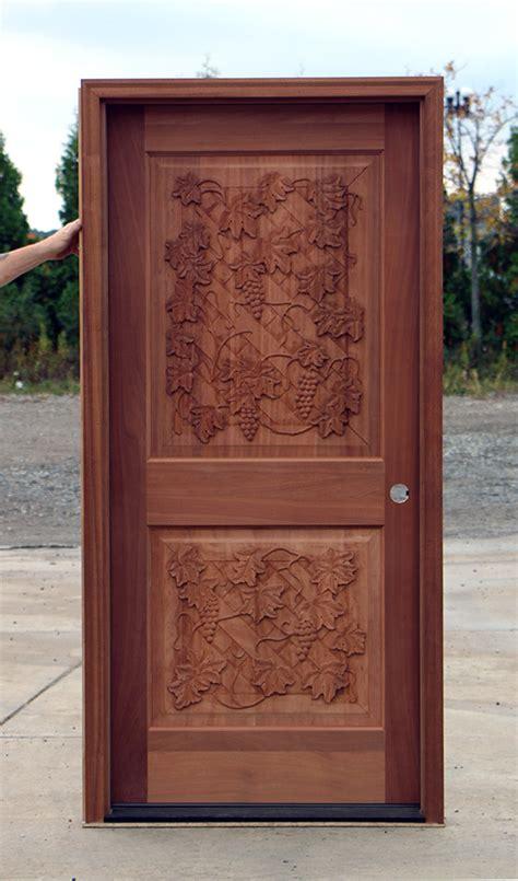 wine cellar door carved mahogany cl