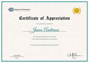 employee service certificate design template in psd word With employee certificate of service template
