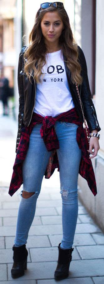 10 Leather Jacket Outfit Ideas for Women | StayGlam