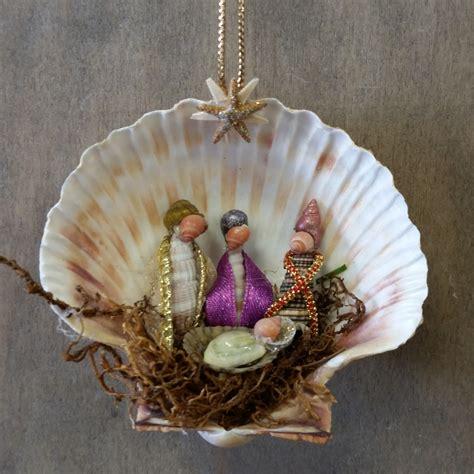 three wise men shell manger scene christmas nativity