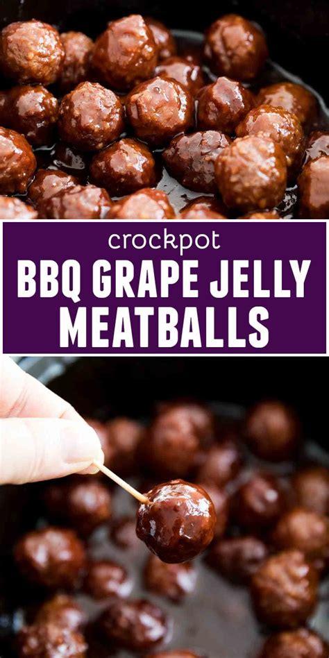 meatballs jelly grape bbq crockpot recipes crock pot recipe cooker slow sweet savory party tasteandtellblog sauce meatball both these food