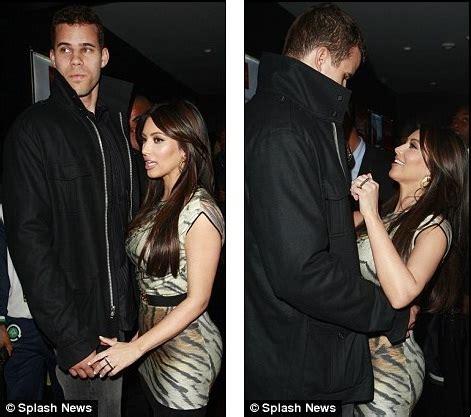 Wildly in love: Kim Kardashian puts on affectionate ...