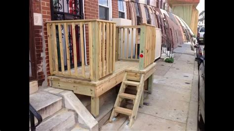how to build deck for wheelchair lift call 267 210 8499