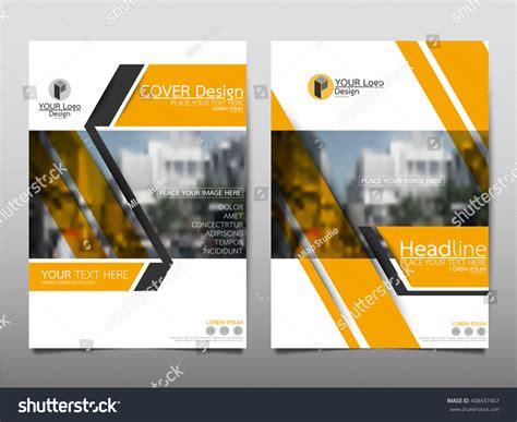 Yellow Brochure Design Vector Millions Vectors Yellow Slant Annual Report Brochure Flyer Design Template