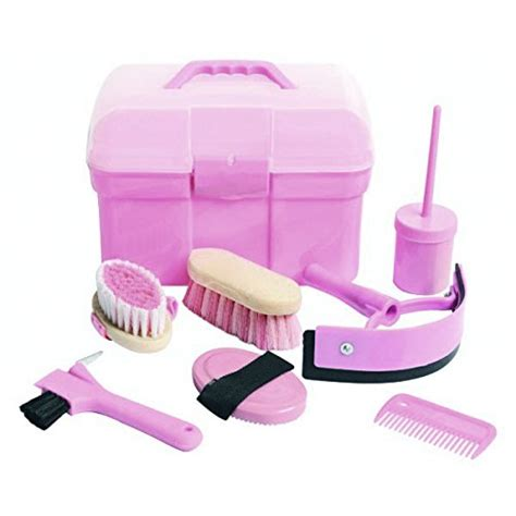 horse grooming kit pony amazon brushes pink box homestead complete