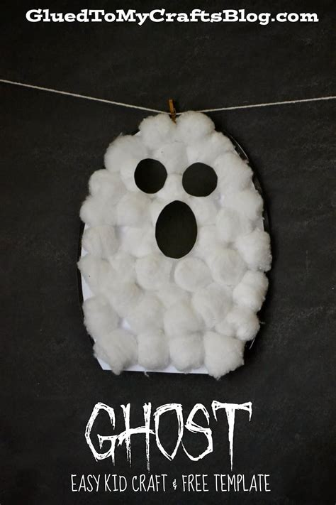 cotton ghost craft for ghost kid craft 7525
