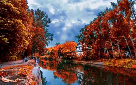 autumn city wallpaper