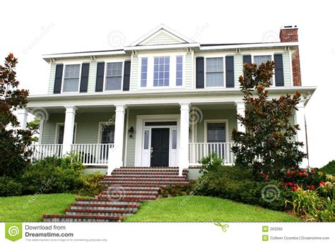 Traditional Home, American Style Stock Photo  Image 263260