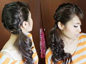 Chic Side Ponytail French Braid Hairstyle for Long Hair ...