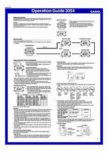 Casio Operation Guide 3054 User Manual