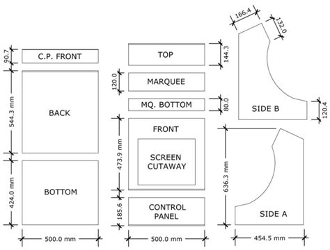 Bartop Arcade Cabinet Plans Pdf by Bartop Arcade Cabinet Plans Pdf Cabinets Matttroy