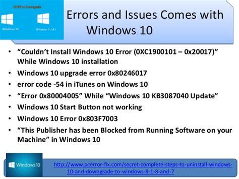 steps to uninstall windows 10 downgrade to windows 8 1 and 7