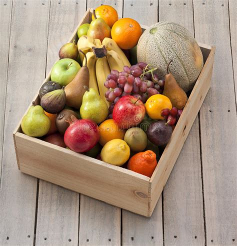 wood box  fruit stock photo image  apple bananas