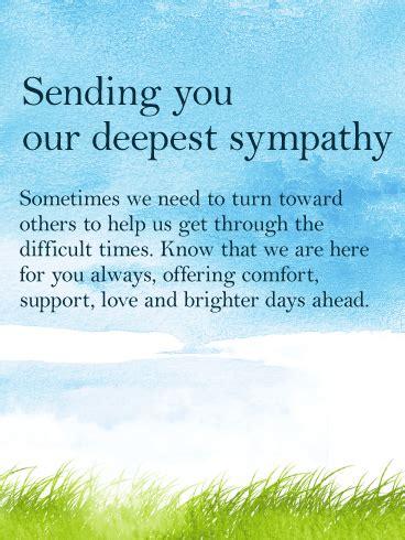 sympathy card birthday greeting