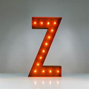 letter z vintage marquee lights touch of modern With marquee letter z