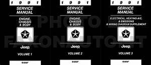 1991 Jeep Repair Shop Manual Original 3 Volume Set