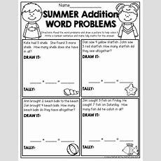 Summer Review No Prep (kindergarten)  Kinderland Collaborative  Word Problems, Kids Math
