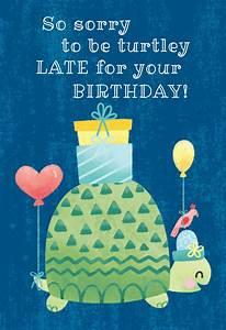 Birthday Love Card Turtle Belated Birthday Birthday Card Free Greetings