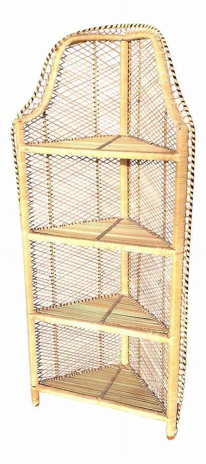 Wicker Corner Shelf Rattan Shelving Chairish