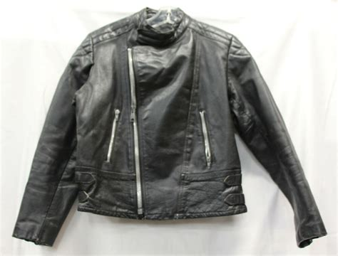 Midnight Rider Mens Leather Jacket Motorcycle Coat Vintage