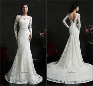 2015 amelia sposa wedding dresses sash lace illusion With affordable long sleeve wedding dresses