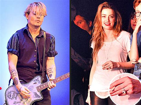 Amber Heard Flashes Engagement Ring at Johnny Depp's ...