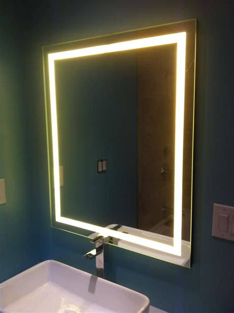 Bathroom Mirrors With Built In Lights by Led Backlit Mirror In 2019 Welding Bathroom Mirrors