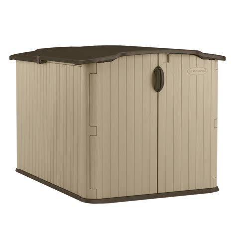 suncast resin glidetop outdoor storage shed bms4900 suncast glidetop 98 cu ft shed sears