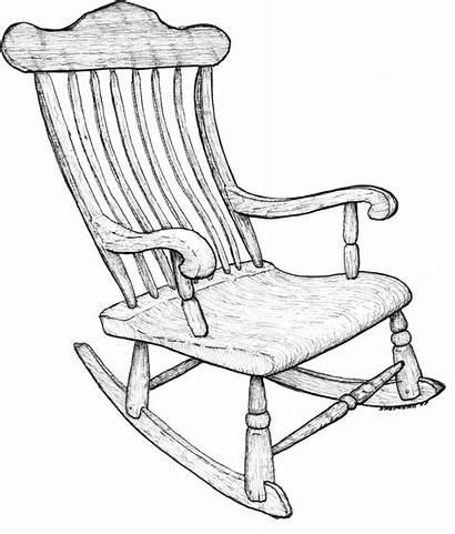 Drawing Chair Rocking Chairs Line Drawings Getdrawings