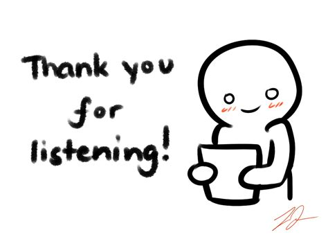 'thank You For Listening' Card By Lyraerideviantartcom