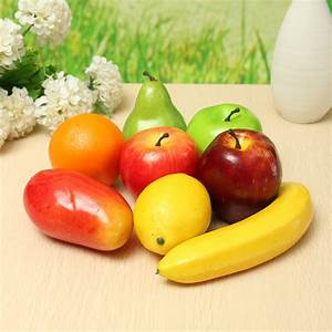 8PCS Lifelike Artificial Plastic Fruit Kitchen Fake