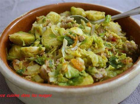 recettes de choux de bruxelles et saucisse
