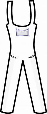 Overall Outline Clipart Overalls Clip Clker Cliparts Vector Library sketch template
