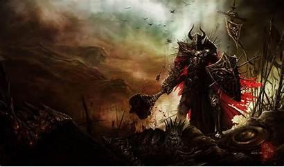 Fantasy Warrior Knight War Hammer Death Blood