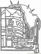 Coloring Booth London Telephone England Ausmalbilder Stadt Britain Template Kostenlos Aehnliche Kategorien sketch template