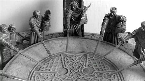 chevaliers de la table ronde etains du graal